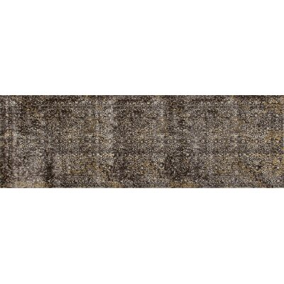 Drey Brown/Mushroom Area Rug Rug Size: Runner 27 x 81