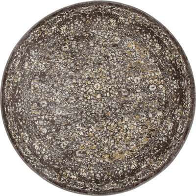 Devay Brown/Mushroom Area Rug Rug Size: ROUND 710
