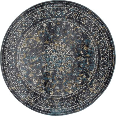 Devay Gray Indoor Area Rug Size: ROUND 53