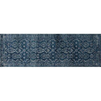 Devay Blue Area Rug Rug Size: Runner 27 x 81