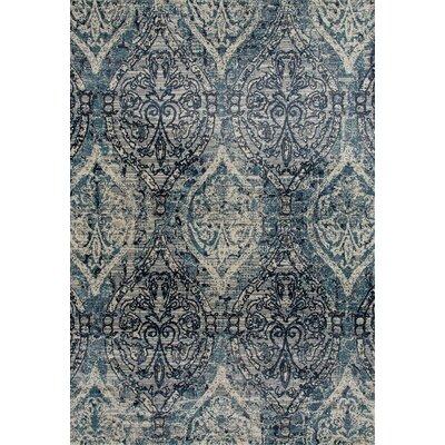 Devay Tibetan Steel Blue Area Rug Rug Size: 22 x 37