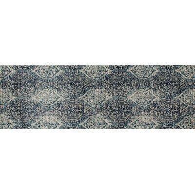 Devay Tibetan Steel Blue Area Rug Rug Size: Runner 27 x 81