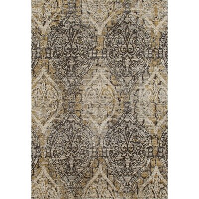 Devay Dark Gray/Cream Area Rug Rug Size: 22 x 37