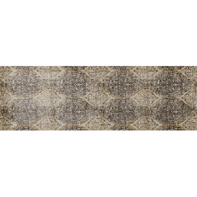 Devay Dark Gray/Cream Area Rug Rug Size: Runner 27 x 81