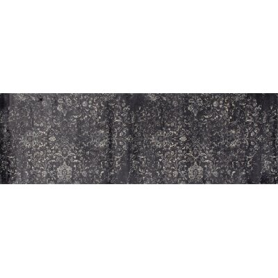 Devay Floral Gray Area Rug Rug Size: Runner 27 x 81