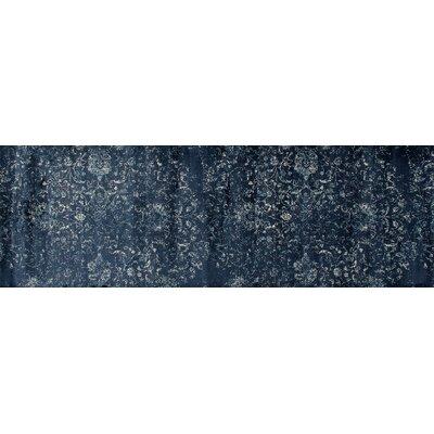 Devay Floral Steel Blue Area Rug Rug Size: Runner 27 x 81
