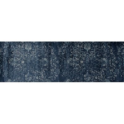 Drey Steel Blue Area Rug Rug Size: Runner 27 x 81