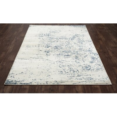 Devay Abstract Steel Blue Area Rug Rug Size: 1011 x 15