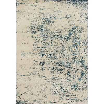 Devay Abstract Steel Blue Area Rug Rug Size: 22 x 37
