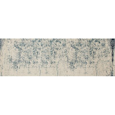 Devay Abstract Steel Blue Area Rug Rug Size: Runner 27 x 81