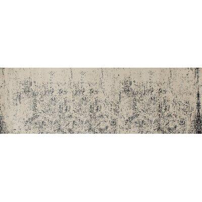 Devay Gray Area Rug Rug Size: Runner 27 x 81
