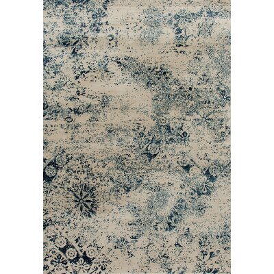 Devay Steel Blue Area Rug Rug Size: Runner 27 x 81