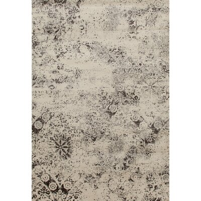 Drey 257 Brown/Cream Are Rug Rug Size: 92 x 126