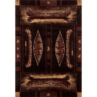 Raritan Brown Area Rug Rug Size: 53 x 77