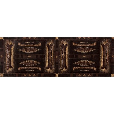 Raritan Brown Area Rug Rug Size: Runner 27 x 77