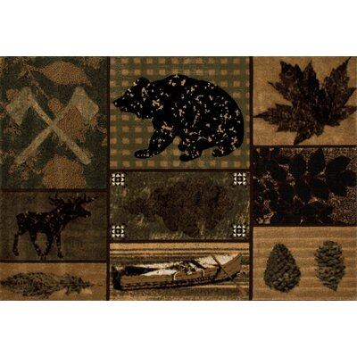 Raritan Brown/Black Are Rug Rug Size: 53 x 77