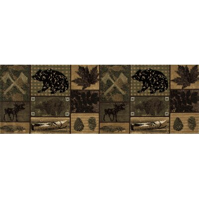 Raritan Brown/Black Are Rug Rug Size: Runner 27 x 77