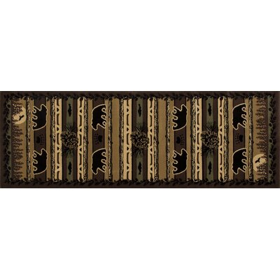 Raritan Grizzly Forest Black Area Rug Rug Size: 22 x 311