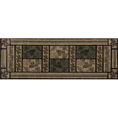 Raritan Trail Green Area Rug Rug Size: Runner 27 x 77