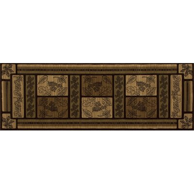 Raritan Valley Brown Area Rug Rug Size: 53 x 77