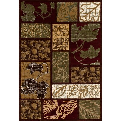 Raritan Olympic Forest Brown Area Rug Rug Size: 53 x 77