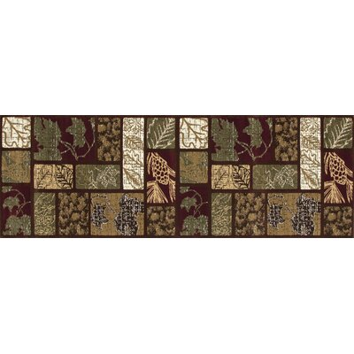 Raritan Olympic Forest Brown Area Rug Rug Size: Runner 27 x 77
