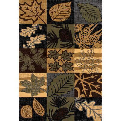 Raritan Smokey Mountains Green Area Rug Rug Size: 53 x 77