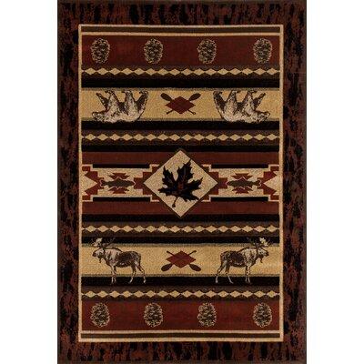 Raritan Acadian Adventure Burgundy Area Rug Rug Size: 311 x 511
