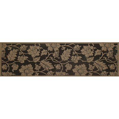 Beaminster Black/Beige Indoor/Outdoor Area Rug Rug Size: Runner 27 x 9