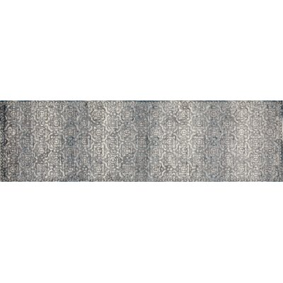 Hersom Gray/Teal Area Rug Rug Size: Runner 22 x 77