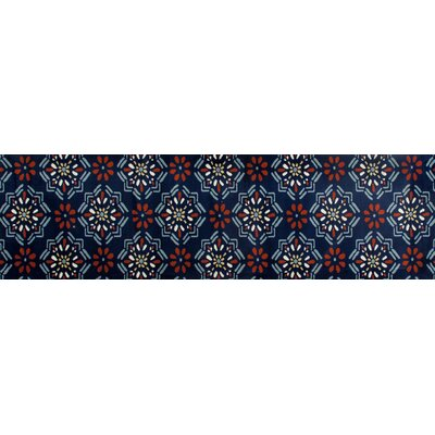 Vasquez Dark Blue/Orange Indoor/Outdoor Area Rug Rug Size: Runner 22 x 8