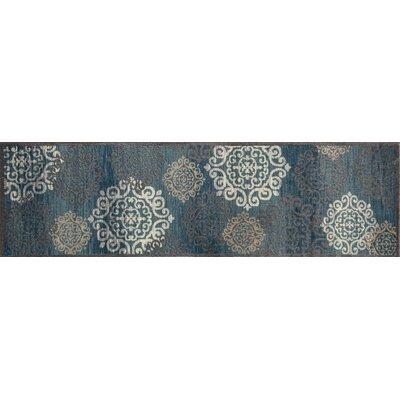 Hudson Blue Area Rug Rug Size: Runner 22 x 77