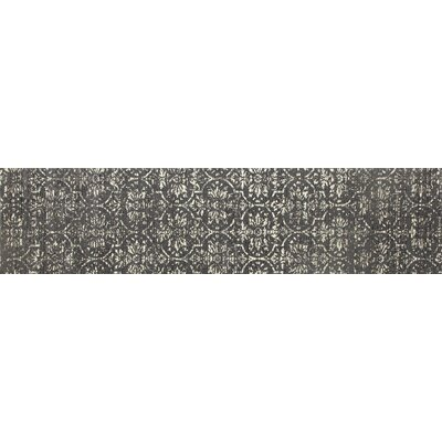 Channel Gray/Cream Area Rug Rug Size: Runner 22 x 9