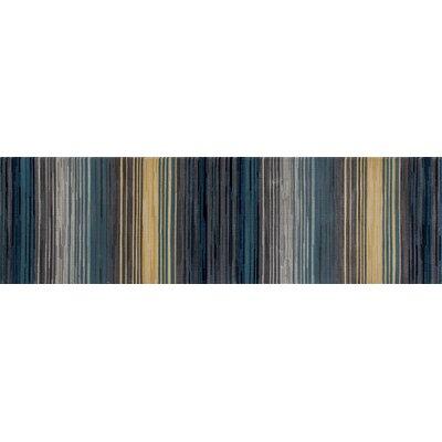 Vassallo Gray Area Rug Rug Size: Runner 22 x 77