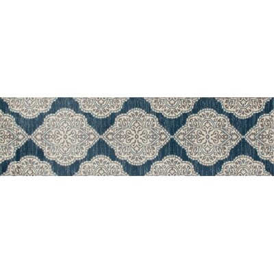 Jack Machine Woven Blue Area Rug Rug Size: Runner 22 x 77