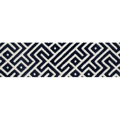 Highline Navy Blue Area Rug Rug Size: Runner 2 x 8