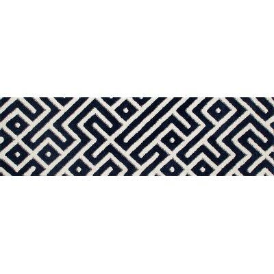 Charette Navy Blue Area Rug Rug Size: Runner 22 x 77