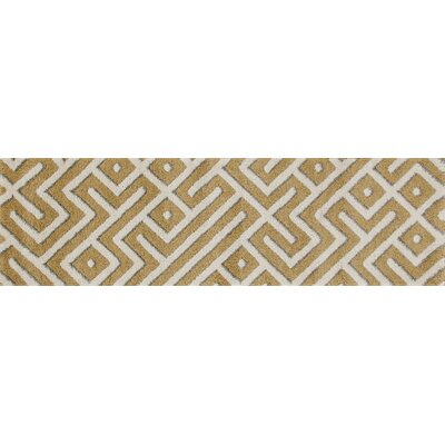 Charette Yellow Area Rug Rug Size: Runner 22 x 77