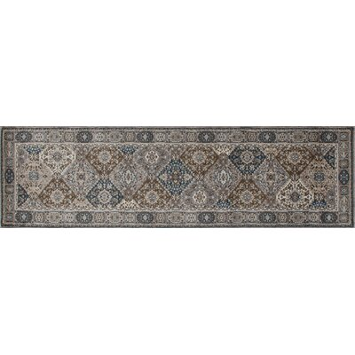 Arabella Gray Area Rug Rug Size: Runner 2' x 8'