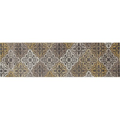 Arabella Yellow Area Rug Rug Size: Runner 2 x 8