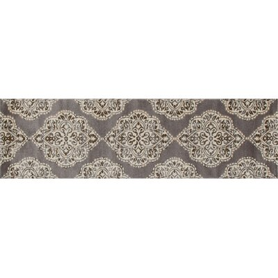 Jack Brown / White Area Rug Rug Size: Runner 22 x 77