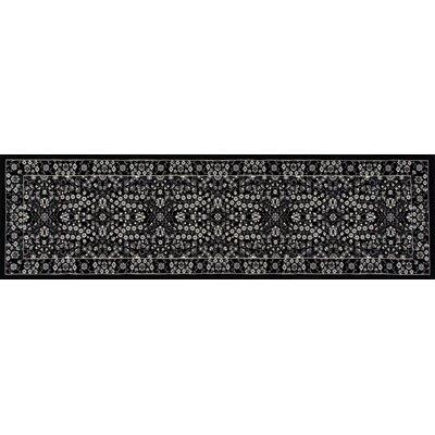 Lang Black Area Rug Rug Size: Runner 22 x 77