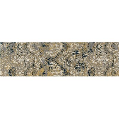 Hewish Yellow Area Rug Rug Size: Runner 22 x 77