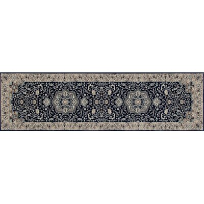 Lang Navy Area Rug Rug Size: Runner 27 x 11