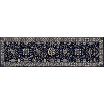Lang Machine Woven Navy Area Rug Rug Size: Runner 27 x 11