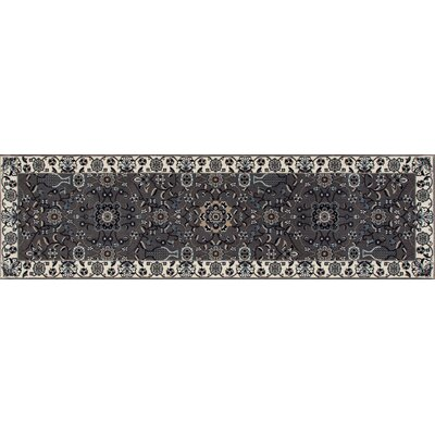Kensington Gray Area Rug Rug Size: Runner 3 x 11
