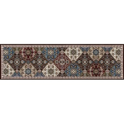Kensington Brown Area Rug Rug Size: Runner 2 x 8