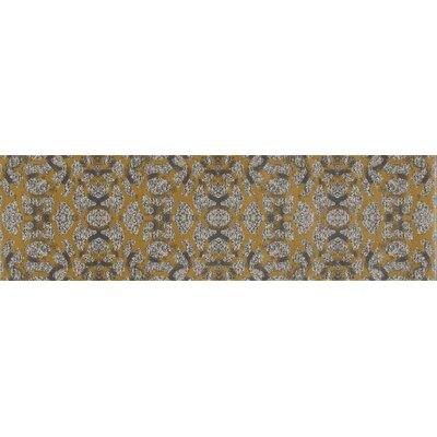 Delanie Yellow Area Rug Rug Size: Runner 22 x 77