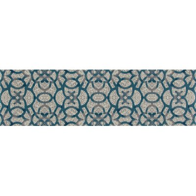 Delanie Gray Area Rug Rug Size: Runner 22 x 77