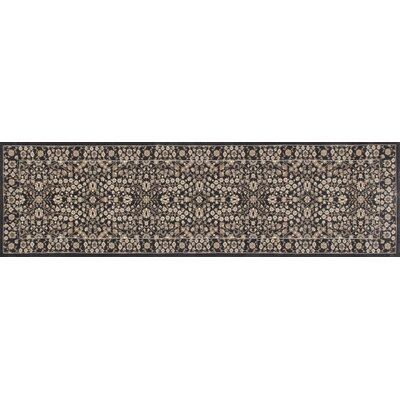 Lang Machine Woven Gray Area Rug Rug Size: Runner 27 x 11